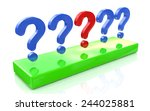 question mark row on a white... | Shutterstock . vector #244025881