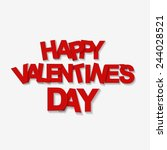 happy valentines day card.... | Shutterstock .eps vector #244028521