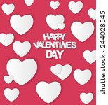happy valentines day card.... | Shutterstock .eps vector #244028545