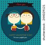 gay couple in love | Shutterstock .eps vector #244029121