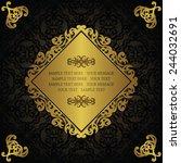 vintage invitation on seamless... | Shutterstock .eps vector #244032691
