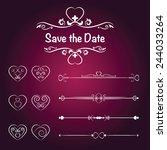 set calligraphic design...   Shutterstock .eps vector #244033264