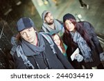 Group Of Young Tourists At...