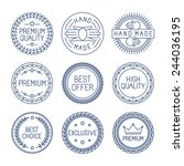 vector set of premium labels... | Shutterstock .eps vector #244036195