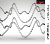 abstract waves on a gray... | Shutterstock .eps vector #244038811