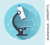 microscope flat  icon  with... | Shutterstock .eps vector #244039771