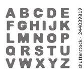 bold font on white background.... | Shutterstock .eps vector #244039819