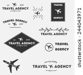 vintage hipster logos vector set   Shutterstock .eps vector #244043971