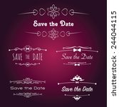 save the date titles with... | Shutterstock .eps vector #244044115