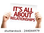 it's all about relationships... | Shutterstock . vector #244044979