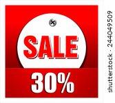 sale percent | Shutterstock .eps vector #244049509