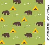 seamless national pattern with... | Shutterstock .eps vector #244049629