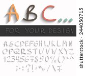hand draw alphabet with modern...