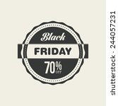 black friday icon on a white... | Shutterstock .eps vector #244057231