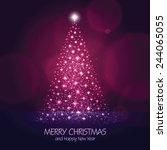 christmas tree background | Shutterstock .eps vector #244065055