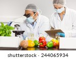 food scientists using the... | Shutterstock . vector #244065934