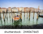 venice  italy   february 15   a ... | Shutterstock . vector #244067665