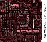 valentine's day word seamless... | Shutterstock .eps vector #244070767