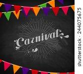 vector typographical... | Shutterstock .eps vector #244075675