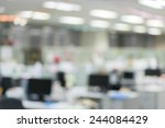 Office Blur Background With...