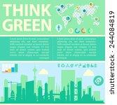 green city infographic template  | Shutterstock .eps vector #244084819