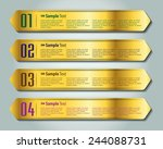 colorful modern text box... | Shutterstock .eps vector #244088731