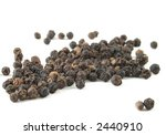 Black Pepper Corns Isolated On...