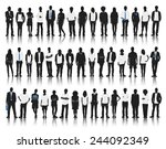 silhouette group of people... | Shutterstock .eps vector #244092349