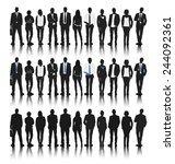 silhouettes of business people... | Shutterstock .eps vector #244092361