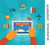 online booking bitmap concept... | Shutterstock . vector #244098979
