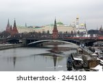 spring snapshot of moscow... | Shutterstock . vector #244103