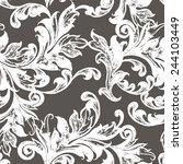 vintage vector seamless pattern.... | Shutterstock .eps vector #244103449
