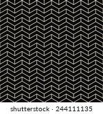 black and white chevron... | Shutterstock .eps vector #244111135