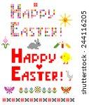 easter mosaic   Shutterstock .eps vector #244116205
