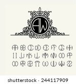 stylish  graceful monogram  ... | Shutterstock .eps vector #244117909
