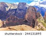 angels landing is a 1 488 foot... | Shutterstock . vector #244131895