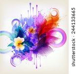 fantasy watercolor vector...   Shutterstock .eps vector #244133665
