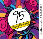 95 happy birthday background or ... | Shutterstock .eps vector #244141327