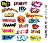 comic book explosion  color... | Shutterstock .eps vector #24414823