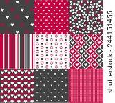 seamless patterns valentine's... | Shutterstock .eps vector #244151455