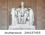 statue of abraham lincoln ... | Shutterstock . vector #244157455