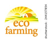 organic farming illustration ...   Shutterstock .eps vector #244157854