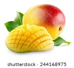 Mango With Slices On A White...