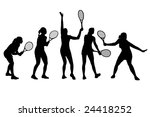 vector illustration of tennis... | Shutterstock .eps vector #24418252
