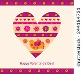 happy valentines day.... | Shutterstock . vector #244184731
