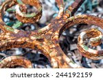 Detail Of An Old  Rusted Iron...