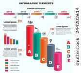 infographics elements. 3d... | Shutterstock . vector #244202614