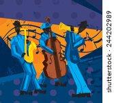Постер, плакат: Jazz Band A jazz