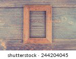 Photo Frame On Wooden...