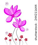 floral with butterfly isolated... | Shutterstock .eps vector #244211644